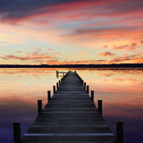 Romantischer Landschaft starnberg See, bei Sonnenuntergang Lizenzfreies Stockbild