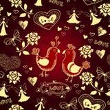 Romantischer netter nahtloser Liebeshintergrund Stockfoto