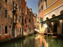 Romantischer Platz in Venedig stockfotos