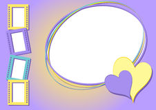 Romantischer Rahmen Lizenzfreie Stockbilder