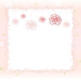 Romantischer rosafarbener Hintergrund Lizenzfreies Stockfoto