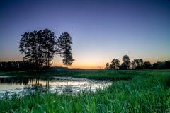 Romantischer See und Fluss stockfoto