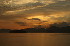 Romantischer Sonnenuntergang lizenzfreie stockfotografie