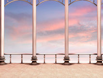 Romantischer Sonnenuntergang stockbild