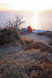Romantischer Sonnenuntergang Griechenland Stockbild