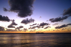 Romantischer Sonnenuntergang in Rio de la Plata stockfotos
