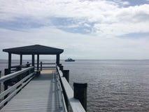 Romantischer Southport-Pier lizenzfreies stockfoto