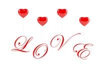 Romantischer Text mit Ballonen Lizenzfreies Stockbild
