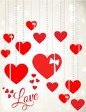 Romantischer Valentine Greeting Card Lizenzfreie Stockfotos