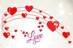 Romantischer Valentine Heart Wave Lizenzfreies Stockbild