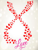 Romantischer Valentine Hearts With Greeting Stockfotografie