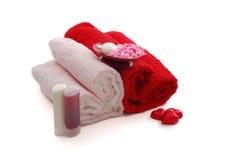 Romantischer Valentinsgruß-Tag-BADEKURORT stellte mit dem zwei Inneres sha ein Lizenzfreie Stockbilder