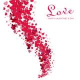 Romantischer Valentinsgrußhintergrund Stockbild