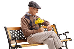 Romantisches älteres, auf sein Datum wartend Stockfotografie