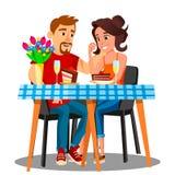 paare die zu abend essen auch im corel abgehobenen betrag stock abbildung illustration von. Black Bedroom Furniture Sets. Home Design Ideas