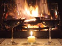 Romantisches Abendessen für zwei Stockfotografie