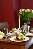 Romantisches Abendessen für zwei Lizenzfreie Stockfotografie