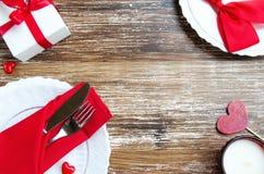 Romantisches Abendessenkonzept der Liebe Stockbild