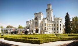 Romantisches Chateau, Hluboka, Tschechische Republik Stockbild