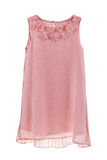 Romantisches Chiffon- Kleid mit zurück gefaltet und Schmetterlinge Stockfotos