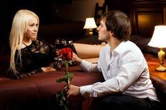 Romantisches Datum Stockbild