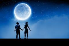 Romantisches Datum Stockfotos
