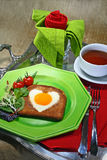 Romantisches Frühstück Stockbild