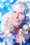Romantisches Frauenportrait Lizenzfreie Stockfotografie