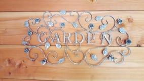 Romantisches Gartenzeichen Stockfotografie