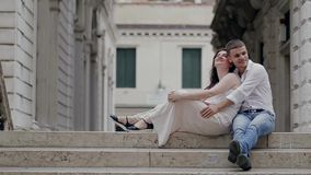 Romantisches gehendes Venedig stock footage