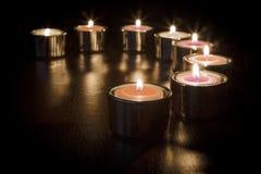 Romantisches Glühen Stockbild