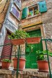 Romantisches Haus in Rovinj, Kroatien Stockbilder