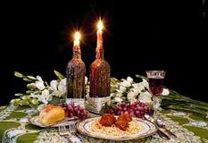 Romantisches italienisches Abendessen Stockfoto