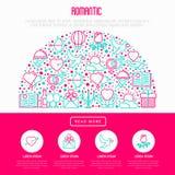 Romantisches Konzept im Halbkreis vektor abbildung
