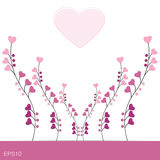 Romantisches Liebesdesign EPS10 Stockbild