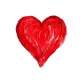 Romantisches Liebesherz auf einem weißen Hintergrund Stockfoto