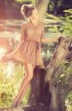 Romantisches Mädchen im Freien Stockbilder