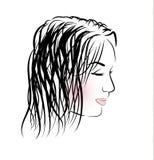 Romantisches Mädchen mit dem langen Haar Lizenzfreies Stockfoto