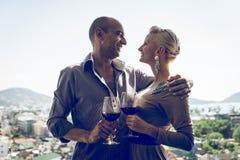 Romantisches Mittagessen Stockfotos