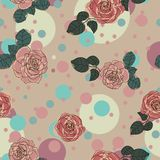 Romantisches Muster der Rosen vektor abbildung