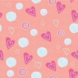 Romantisches Muster mit Liebe Stockfoto