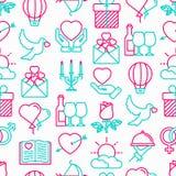 Romantisches nahtloses Muster lizenzfreie abbildung