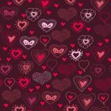 Romantisches nahtloses Muster mit Herzen Lizenzfreie Stockfotos