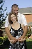 Romantisches Paarumarmen Lizenzfreie Stockfotografie
