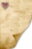 Romantisches Pergament getrennt Lizenzfreie Stockbilder