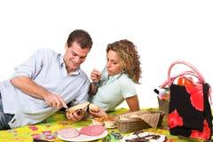 Romantisches Picknick im Park Lizenzfreies Stockbild
