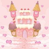Romantisches Süßigkeits-Schloss Lizenzfreie Stockfotos