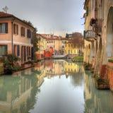 Romantisches Stadtbild Italien Trevisos Lizenzfreies Stockfoto