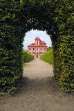 Romantisches Troja Schloss Stockfoto