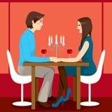 Romantisk årsdagmatställe Arkivfoton
